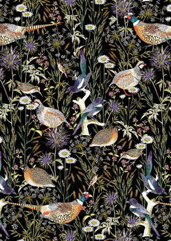 Woodland Edge Birds Taidejuliste