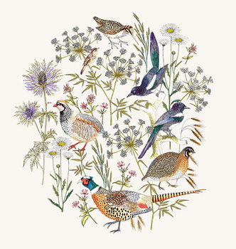 Woodland Edge Birds Placement Taidejuliste