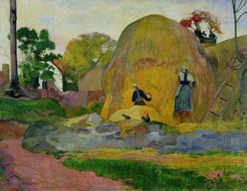 Yellow Haystacks, or Golden Harvest, 1889 Taidejuliste