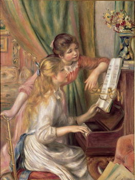 Young Girls at the Piano, 1892 Taidejuliste
