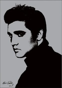 Elvis Presley - Metallic Reproduction d'art