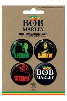 BOB MARLEY - iron lion zion - Emblemas