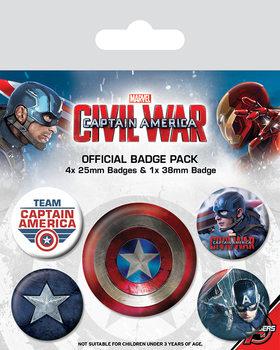 Captain America Civil War - Captain America - Emblemas