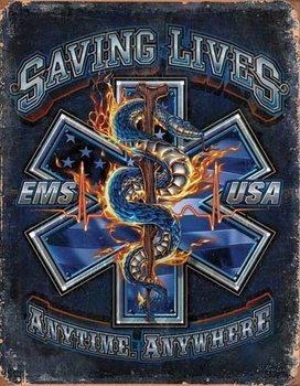 EMS - Saving Lives Plaque métal décorée