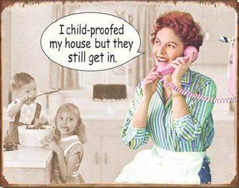 EPHEMERA - Childproofed House  Plaque métal décorée