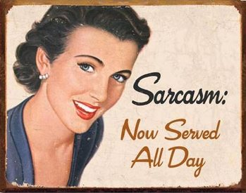 EPHEMERA - Sarcasm Plaque métal décorée