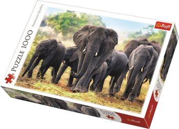 Puzzle African Elephants