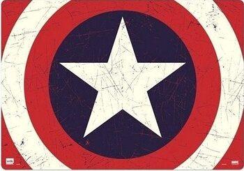 Gaming Pelipöydän matto Captain America - Shield