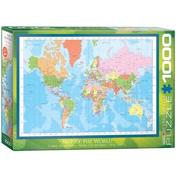 Palapeli Modern Map of the World