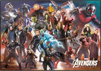 Pelipöydän matto Avengers: Endgame - Line Up