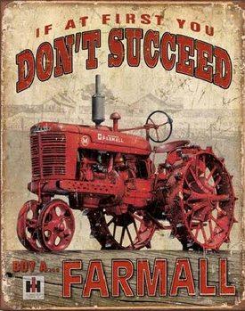 FARMALL - Succeed Plaque métal décorée