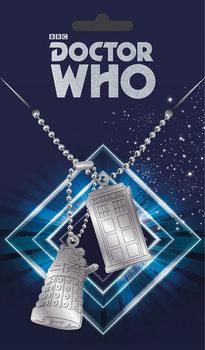 Fashion Dog tag Doctor Who - Tardis and Dalek