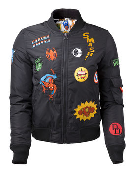 Jacket Marvel - Black Patches