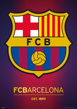 FC Barcelona - Crest Posters Metálicos