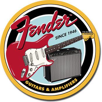 FENDER - Round G&A Plaque métal décorée