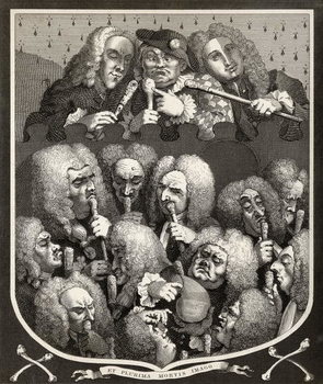 Fine Art Print  A Consultation of Physicians, or The Company of Undertakers, from 'The Works of William Hogarth', published 1833