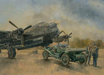 Fine Art Print A Lancaster and a Bentley, 2000