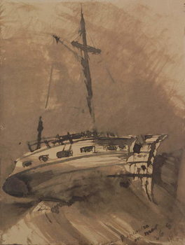 Fine Art Print A Ship in Choppy Seas, 1864