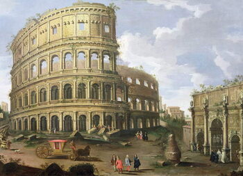 Fine Art Print A View of the Colosseum in Rome