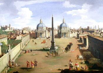 Fine Art Print A View of the Piazza del Popolo in Rome