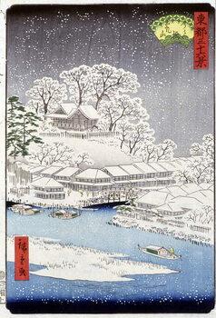 Fine Art Print A village under the snow, Japan
