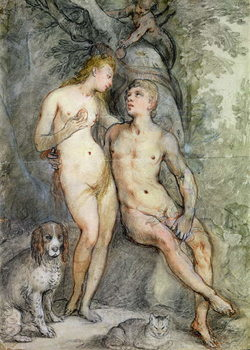 Fine Art Print  Adam and Eve