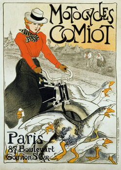 Fine Art Print Advertising poster for Comiot motorcycles.
