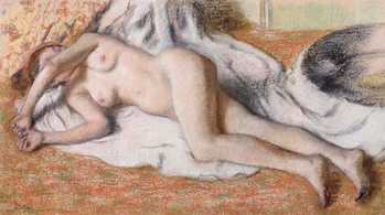 Fine Art Print After the Bath or, Reclining Nude, c.1885