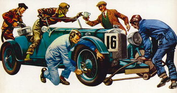 Fine Art Print An Aston Martin racing car, vintage 1932, which won many races
