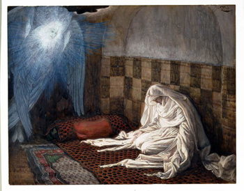 Fine Art Print Annunciation, illustration for 'The Life of Christ', c.1886-96