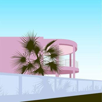 Fine Art Print Art Deco Beach House