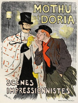 Fine Art Print Art. Entertaiment. The singers Mothu and Doria.