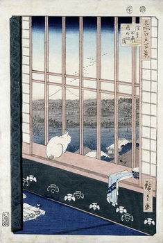 Fine Art Print Asakusa Rice Fields during the festival of the Cock from the series 'Meisho Edo Hyakkei' (One Hundred Views of Edo) 1861