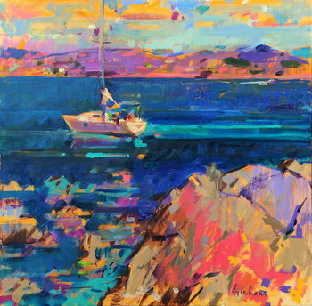 Fine Art Print At Anchor, St Tropez Coast