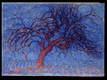 Fine Art Print Avond (Evening): The Red Tree, 1908-10