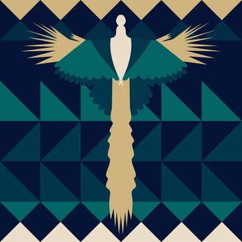 Fine Art Print Aztec Peacock