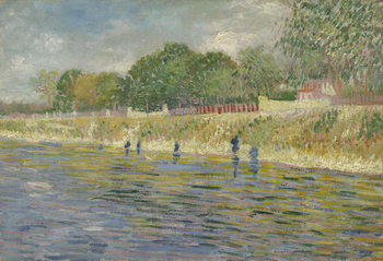 Fine Art Print Bank of the Seine, 1887