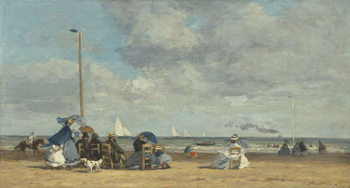 Fine Art Print Beach at Trouville, 1864-5