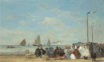 Fine Art Print Beach Scene at Trouville, 1863