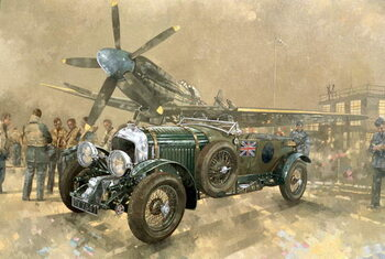 Fine Art Print Bentley and Spitfire