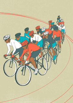 Fine Art Print Bike Race