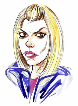 Fine Art Print Billie Piper as Doctor Who's assistant Rose Tyler in BBC series