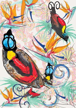 Fine Art Print  Birds of Paradise, 2013