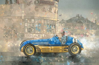 Fine Art Print Blue and Yellow Maserati of Bira