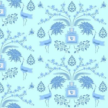 Fine Art Print Blue Floral Scent