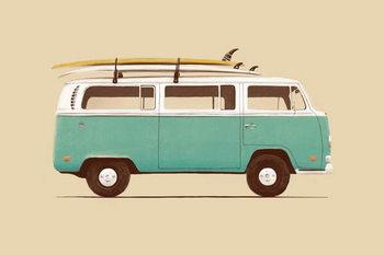 Fine Art Print Blue Van