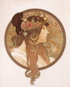 Fine Art Print Byzantine head of a brunette; Tete byzantine d'une brunette