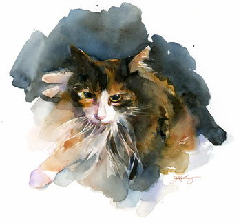 Fine Art Print Calico Cat, 2015,