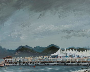Fine Art Print  Cannes Film Festival tents 2014, 2914,