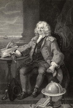 Fine Art Print Captain Thomas Coram, engraved by Benjamin Holl, from 'The Works of Hogarth', published 1833
